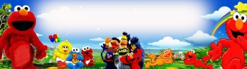 """ELMO  PICTURE  ART//POSTER //BANNER//PICTURE  W// YOUR NAME 30/"""" x 8 1//2/""""/"""""""