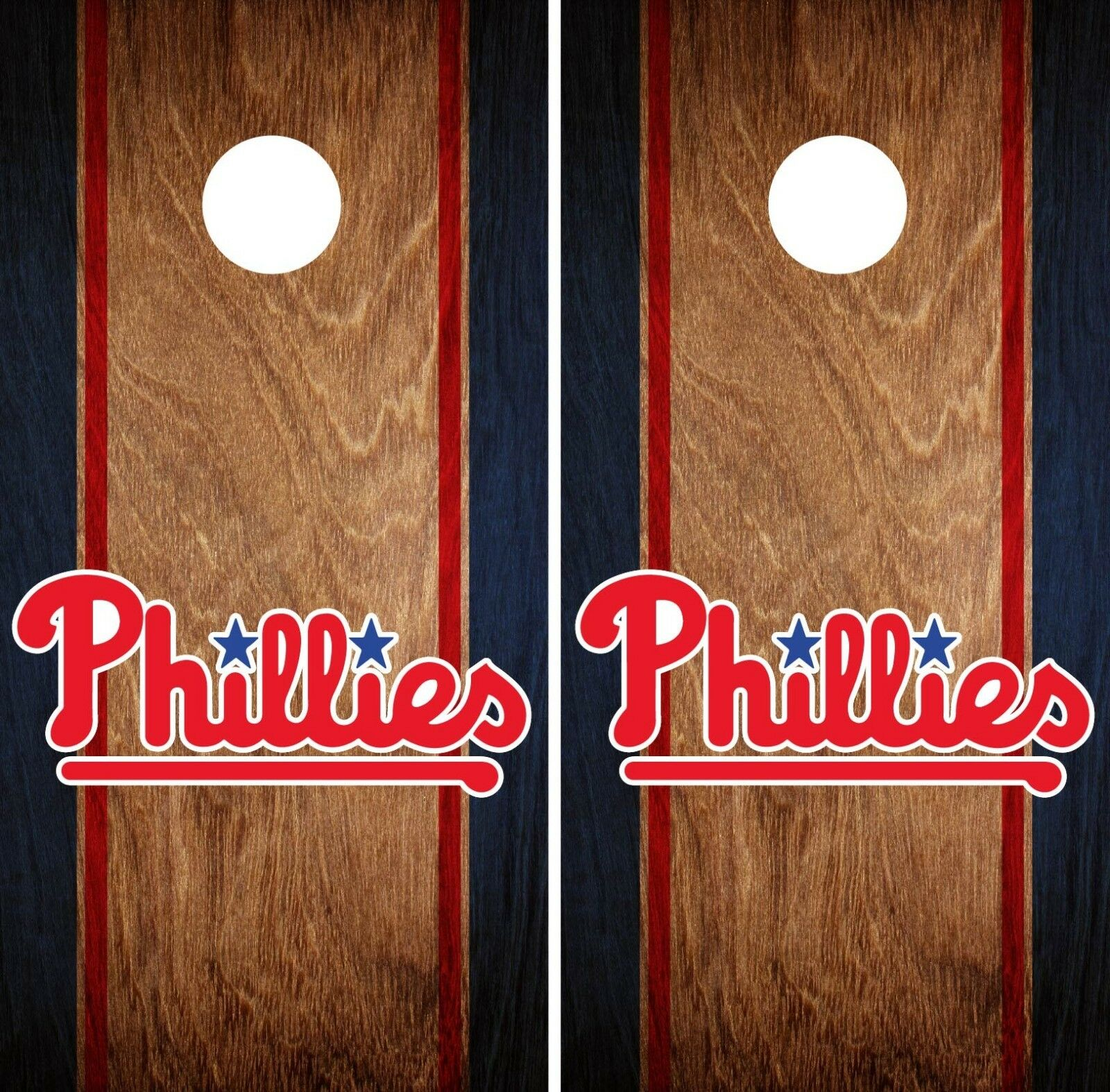 Philadelphia Phillies Cornhole Wrap MLB Game Skin Set Vinyl Decal Art CO513