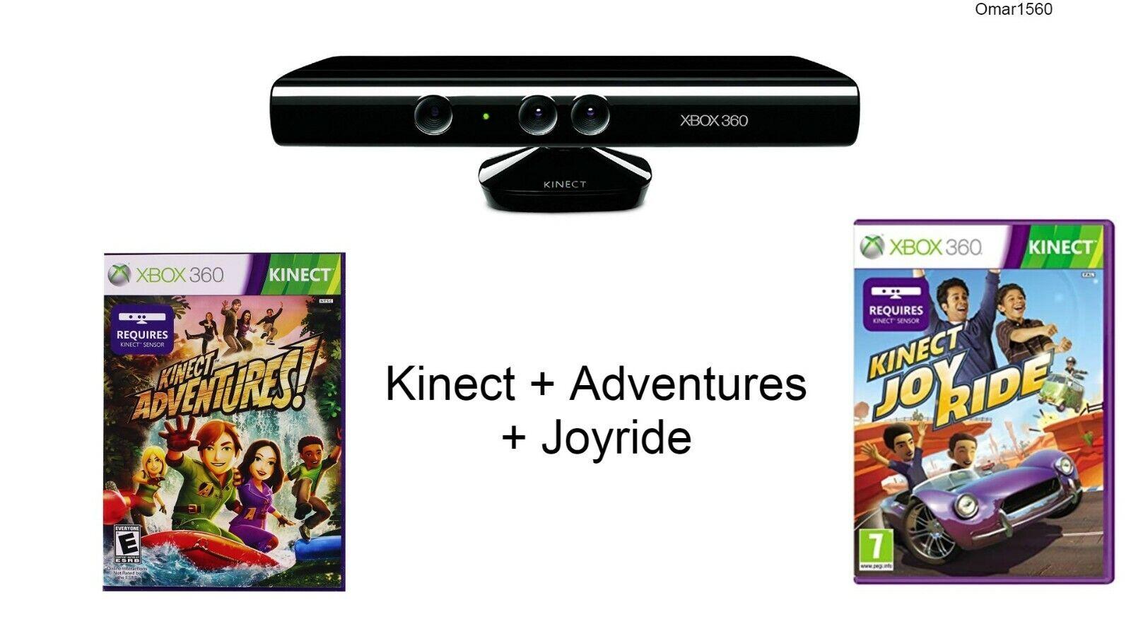 Kinect Sensor Xbox360 + Adventures + Joyride GAME Bundle Without Power Supply
