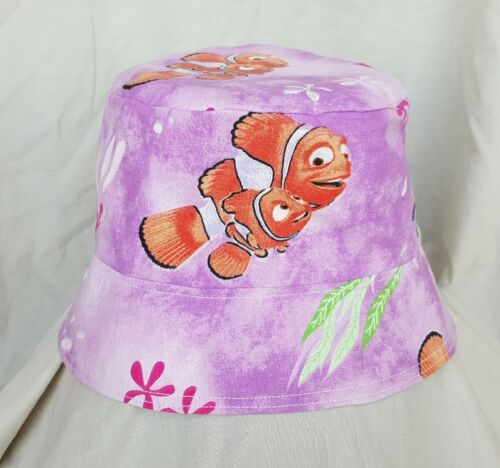 New Childs Finding Nemo Sun Hat. Bucket Hat. Size M/l. Age 4+. Holidays