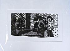 """Originale Intaglio in legno """"Die 3 Maschere"""", Wilhelm Grimm, firmato. 57x75 cm"""