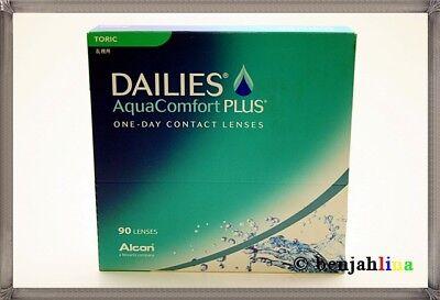 90 Stück Dailies Aquacomfort Plus Toric -0,5 Linsen Tageslinsen (€0,54/stück)