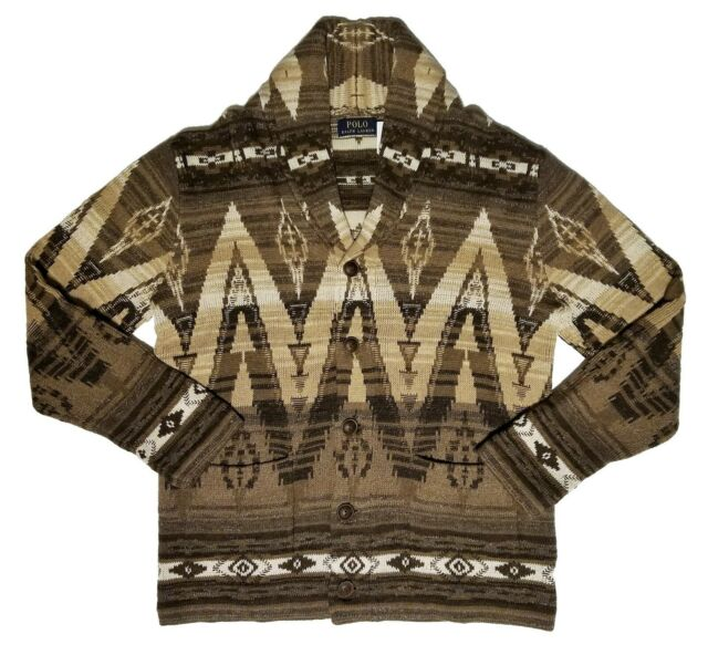 Lauren Southwest Men's Ralph Shawl Polo 2xl Xxl Knit Collar Sweater Cardigan BWEdxeroQC