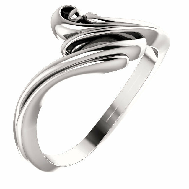 Freeform Bypass Design Ring Choice Solid 14K Yellow or White gold Size 7 Sizable