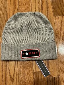 Tommy Hilfiger Wool Blend Beanie Hat Cap, Gray, One Size