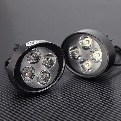 2x 15W Motorcycle ATV 4 LED Driving Fog Head Spot Light Lamp Headlight 3000LM