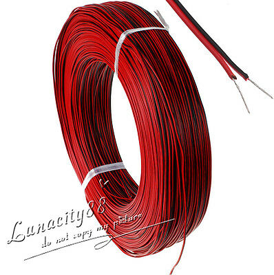 Lots 2-Pin 24AWG Extension Cable Wire leads For 3528 5050 Single Color LED Strip