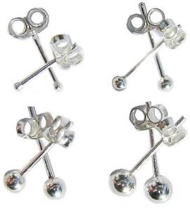 925-Sterling-Silver-Round-Ball-Stud-Earrings-Sleepers-1mm-8mm