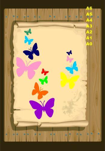 A Flutter of Butterflies Stencil 350 micron Mylar not thin stuff #But20