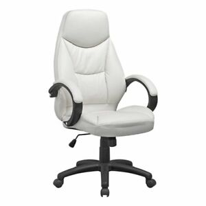 Fabulous Corliving White Leatherette Executive Office Chair Ibusinesslaw Wood Chair Design Ideas Ibusinesslaworg