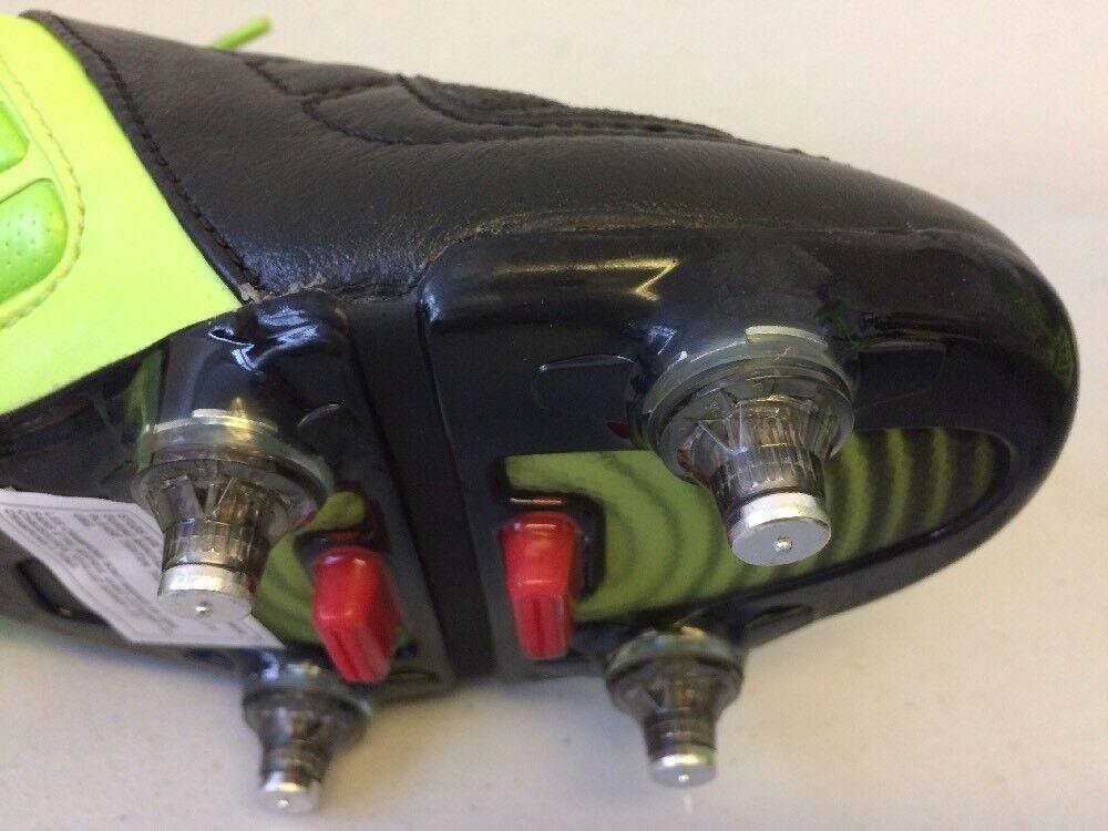 Da Uomo Geometra Pro Scarpe Da Calcio Verde & Nero Nero & Scarpe Di Pelle 80372U-JA9 T147 c3a062