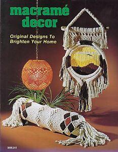 Vtg Retro 1970's Hanging Swag Lamp Pattern Macrame Decor Craft Book MM241