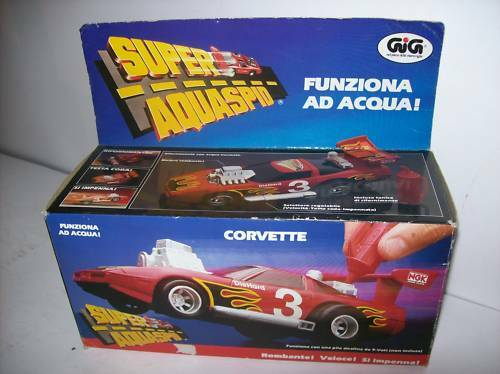 SUPER AQUASPID FUNZIONA AD ACQUA - CORVETTE   anno 1988