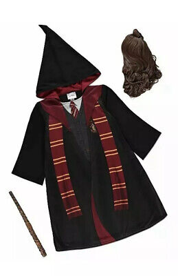Harry potter hermione granger costume new tags wand and wig included age 7-8