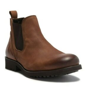 e1ed883463e Details about Wolverine Men's Eckins Brown Leather Slip-On Chelsea Ankle  Boots Size US 9/ UK 8