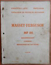 Massey Ferguson Mähdrescher MF 86 Ersatzteilliste