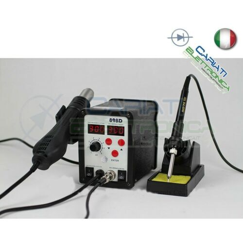 898d Digital Station Hot Air with Soldering Iron 2 in 1 Soldering