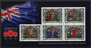 New-Zealand-NZ-2018-MNH-WWI-WW1-Armistice-Day-World-War-I-5v-M-S-Military-Stamps