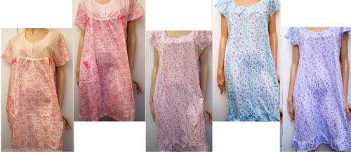 "/""Last Few Clearance/""En`Rose Shortsleeve Nightie Micro Weave Only £5.99 Free Post"
