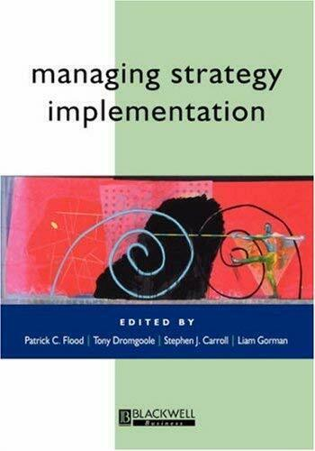 Managing Strategy Implementation von Flood