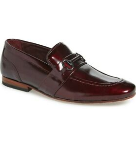 Ted-Baker-London-Paiser-Bit-Loafer-Patent-Leather-Dark-Red-Size-16-EU-49