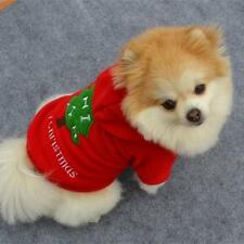 #PET DOG CHRISTMAS CLOTHES COSTUMES PUPPY CAT KNIT SWEATER COAT HOODIE APPAREL L