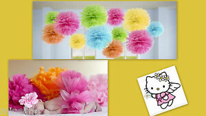 Gewissenhaft ★★★neu Fotoshooting Pompoms Hintergrunddeko Seitenbälle Farbwahl★★★nr Seidenblumen Baby Mix