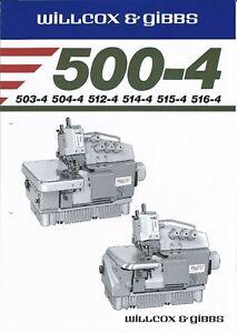 Sewing-Machine-Brochure-Willcox-amp-Gibbs-500-4-series-1986-E3923