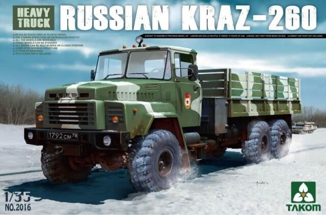 CAMION SOVIETIQUE KrAZ-260 - KIT TAKOM INTERNATIONAL 1 35 n° 2016