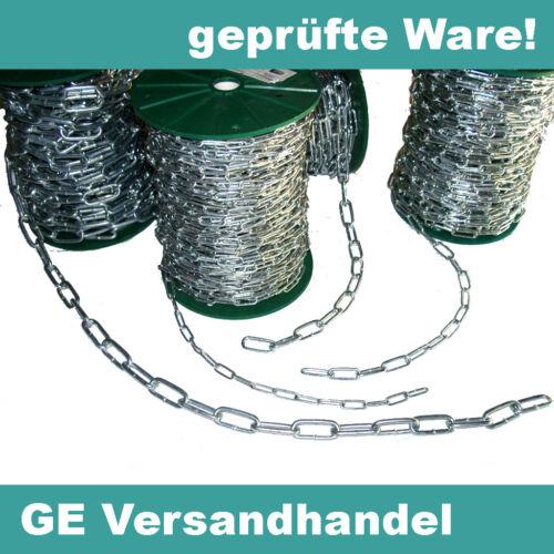 5mm oder 6mm Stahlkette verzinkt langgliedrig// C2