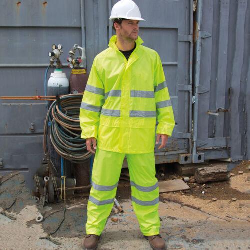 R216X risultato salvaguardare High Viz Vis impermeabile Giacca della tuta pantaloni riflettente