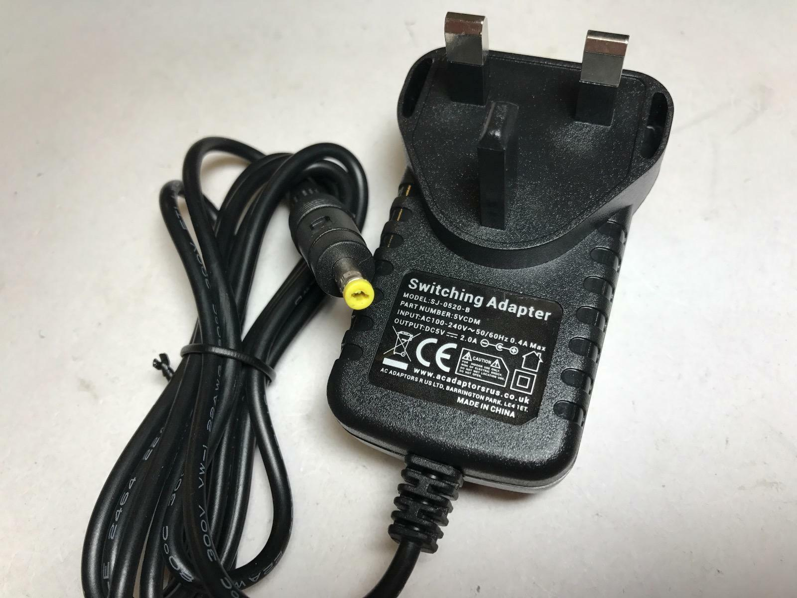 5V 1.25A 1250mA Mains AC-DC Switching Adapter fits DC601 for Bush Freeview Box