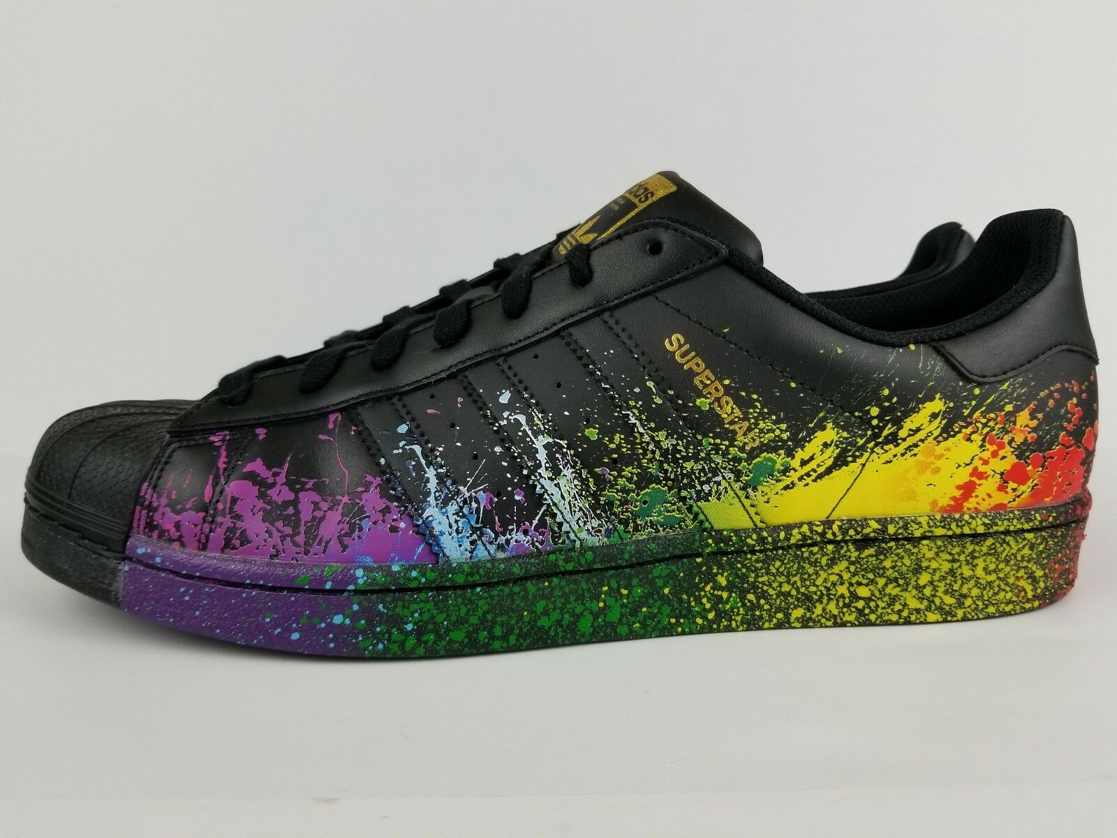 Adidas pack originals männer superstar stolz pack Adidas schuhe größe 11,5 bb1687 schwarze regenbogen 5cf2f6