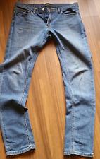 Jeans De Hombre Zara Delgado Elastizado Azul W34 L34 34L