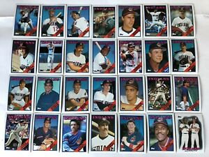 1988-CLEVELAND-INDIANS-Topps-COMPLETE-Baseball-Team-SET-28-Cards-CARTER-FRANCO