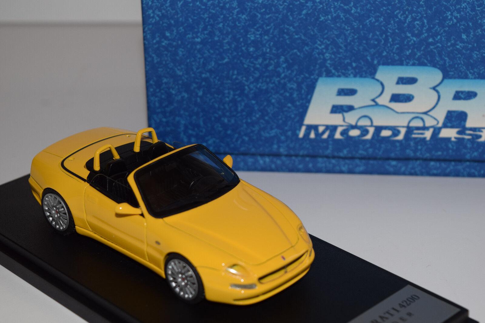 BBR MASERATI 4200 SPYDER 2001 BBR 143A jaune 1 43 NEW