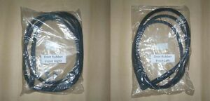 Door Weatherstrip Seal Pair Set of 2 for 92-95 Honda Civic Hatchback or Coupe