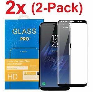 hot sale online f771d 93819 Details about for Samsung Galaxy S8/S8 Plus Clear Full Cover Tempered Glass  Screen Protector