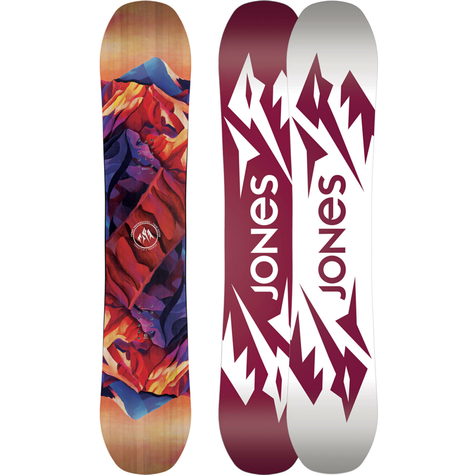 Jones Twin Sister Damen Snowboard All Mountain Mountain Mountain Freestyle Freeride 2019 NEU 85e2ba