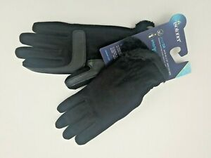 Isotoner-Womens-Signature-SmartDRI-Solid-Texture-Black-Gloves