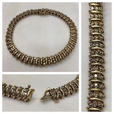 Goldarmband Armband 333er Diamantem 1,41 Ct Gelbgold