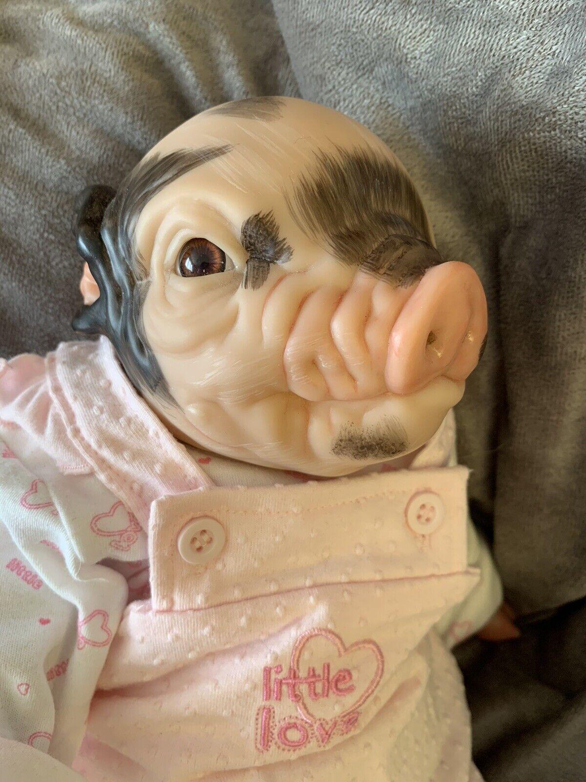 "Reborn baby girl piglet Fawn 16"""