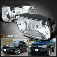 2002-2009 Chevy Trailblazer Clear Bumper Driving Fog Light Lamps+bulb Left+right