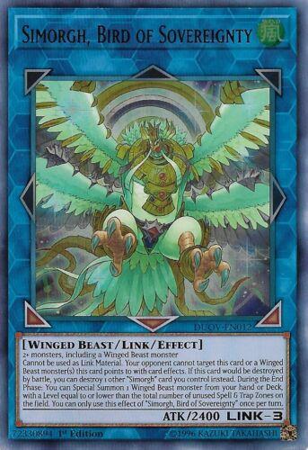 BIRD OF SOVEREIGNTY *** ULTRA RARE DUOV-EN012 MINT//NM YUGIOH! *** SIMORGH