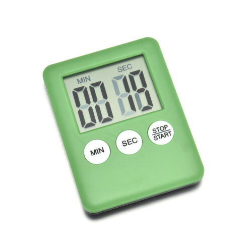Kitchen Large Digital Clock LCD Cooking Timer Magnetic Count-Down Up Clock Alarm