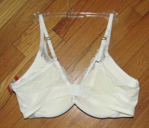 Spanx Full Personalized Push Up Plunge Powder Lace Bra 32D NWT 30030R
