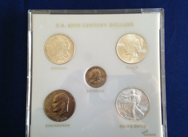1921-2006 U. S. 20th Century Dollars Collection Set of Five in Capital E4924