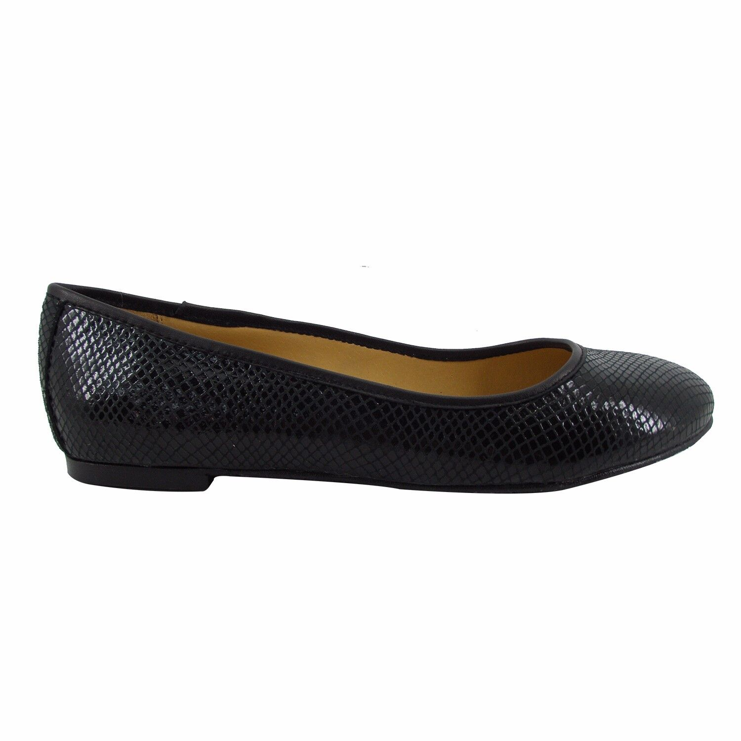 Size 10 10 10 Women's Black Snake Print Leather Ballet Flats MADE IN SPAIN big shoes 4166b1