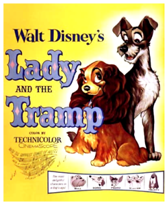 35mm Feature Film: LADY AND THE TRAMP (1955) Walt Disney - CINEMASCOPE