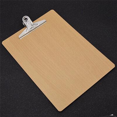 Wooden Zwischenablage A4 Schreibplatte Klemmbrett Büroklammer Papier Clip Board